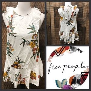 Free People Tunic Top Floral Dress Small